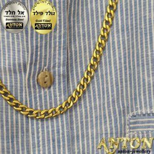 שרשרת זהב לגבר 6 ממ